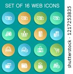 e commerce web icons on... | Shutterstock .eps vector #1217253835