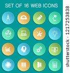 engineering web icons on... | Shutterstock .eps vector #1217253838