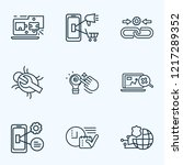 optimization icons line style... | Shutterstock .eps vector #1217289352