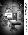 modern operating room in... | Shutterstock . vector #1217304865