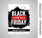 elegant black friday sale... | Shutterstock .eps vector #1217312062