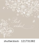 beautiful vintage greeting card | Shutterstock .eps vector #121731382