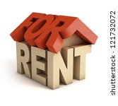 house for rent 3d icon | Shutterstock . vector #121732072