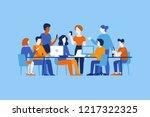 vector illustration in flat...   Shutterstock .eps vector #1217322325