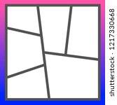 vector frames photo collage  | Shutterstock .eps vector #1217330668