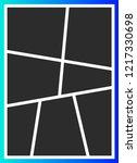 vector frames photo collage  | Shutterstock .eps vector #1217330698