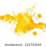 watercolor hand drawn paint... | Shutterstock . vector #121733245
