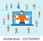 vector illustration in flat... | Shutterstock .eps vector #1217333455