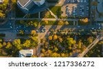 autumn aerial top down view of... | Shutterstock . vector #1217336272