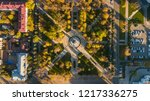 autumn aerial top down view of... | Shutterstock . vector #1217336275