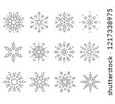 snowflakes icon collection.... | Shutterstock .eps vector #1217338975