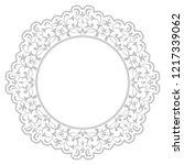 decorative frame elegant vector ... | Shutterstock .eps vector #1217339062
