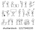 big set of stick figures for...