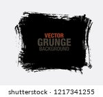 black vector grunge background | Shutterstock .eps vector #1217341255