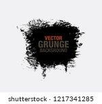 black vector grunge background | Shutterstock .eps vector #1217341285