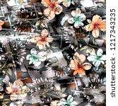 Texture Digital Flowers On...