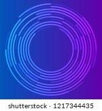 circular wireframe mesh logo... | Shutterstock .eps vector #1217344435