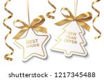 set of new year or christmas... | Shutterstock .eps vector #1217345488