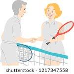 illustration of a senior couple ... | Shutterstock .eps vector #1217347558