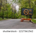 electric traffic street sign on ... | Shutterstock . vector #1217361562