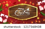 vector merry christmas and... | Shutterstock .eps vector #1217368438
