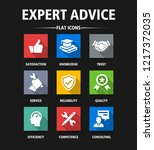 expert advice flat icon set | Shutterstock .eps vector #1217372035