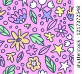seamless floral pattern with... | Shutterstock .eps vector #1217372548