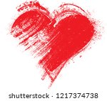 set of hearts . grunge stamps... | Shutterstock .eps vector #1217374738