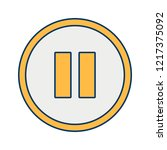 pause basic elements flat...   Shutterstock .eps vector #1217375092
