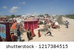 somalis  forced to settle in... | Shutterstock . vector #1217384515