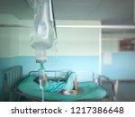 close up saline solution drip... | Shutterstock . vector #1217386648