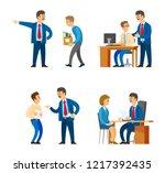 boss professional director... | Shutterstock .eps vector #1217392435
