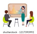 strategy presentation by... | Shutterstock .eps vector #1217393992