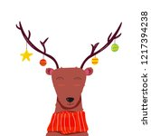 deer with decoration christmas... | Shutterstock .eps vector #1217394238