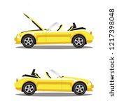 set of broken yellow luxury... | Shutterstock . vector #1217398048