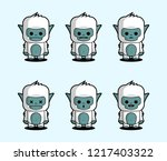 Stock vector little yeti for kid s illustration 1217403322