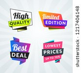 set of sale banners and labels. ... | Shutterstock .eps vector #1217406148