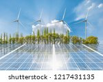 nature green landscape with...   Shutterstock . vector #1217431135