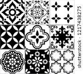 tile vector seamless azlejos... | Shutterstock .eps vector #1217438275