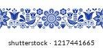 scandinavian seamless vector... | Shutterstock .eps vector #1217441665
