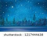 vector winter wonderland... | Shutterstock .eps vector #1217444638