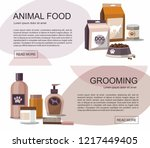 food and grooming for pets.... | Shutterstock .eps vector #1217449405