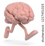 3d illustration brain while... | Shutterstock . vector #1217451325