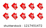 sales tag markers with red... | Shutterstock .eps vector #1217451472