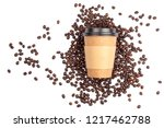 take out cup placed in... | Shutterstock . vector #1217462788