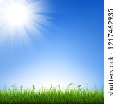 grass border with sky  | Shutterstock . vector #1217462935