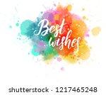 multicolored splash watercolor... | Shutterstock . vector #1217465248