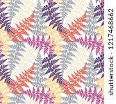 fern frond herbs  tropical... | Shutterstock .eps vector #1217468662