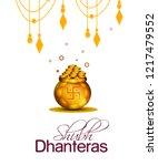 shubh dhanteras poster  banner... | Shutterstock .eps vector #1217479552