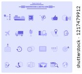 logistics service icon set.... | Shutterstock .eps vector #1217479912